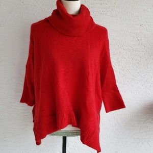 360 Cashmere Red Cowl Neck Sweater Size Small